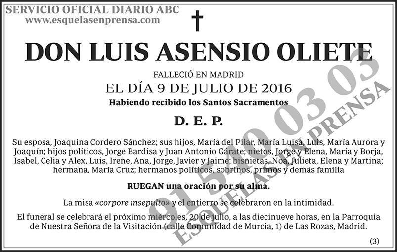 Luis Asensio Oliete